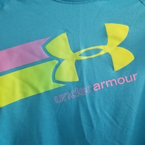Under armour blue workout top size youth Lg